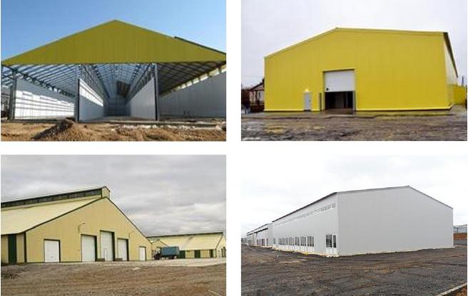 Варианты быстровозводимых зданий с применением оцинкованного профиля
